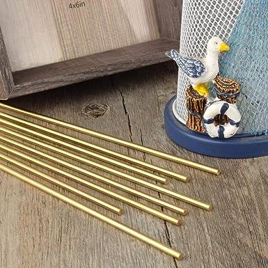 3.5mm//9//64 inch Solid Brass Rods Lathe Bar Stock Kit Brass Round Stock 3.5mm//9//64 inch in Diameter 12 Inch in Length,C27400,7PCS
