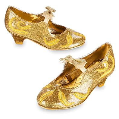 d1b8cd8f5980 Disney Belle Deluxe Costume Shoes for Kids - Live Action Film Size 13 1 Gold