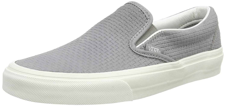 Vans Classic Slip-on Unisex-Erwachsene Sneakers  44.5 EU Grau (Braided Suede/Wild Dove)