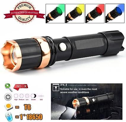 Tactical Police 10000Lumen XM-L T6 LED 3Modes Outdoor Flashlight Aluminum Torch