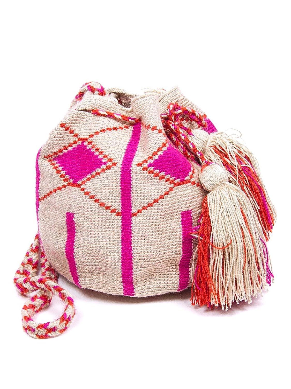 Guanabana Medium Wayuu Bag Pink/Orange