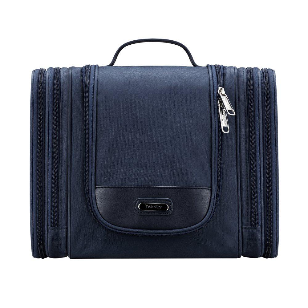 Toiletry Bag Black, Yeiotsy Magical Series Large Travel Toiletry Organizer for Men Business Trip (Dark Blue)