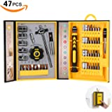 Screwdriver Bit Set Socket Wrenches, Professional Electronics Precision Magnetic Driver Micro Repair Tool Kit for Bike, Watch, iPhone, iPad, Tablet, PC, MacBook