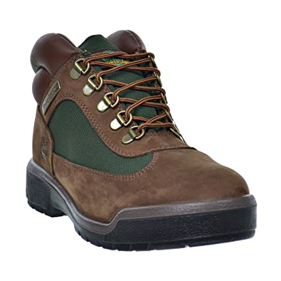 Men's Waterproof Field Boots Brown/Green