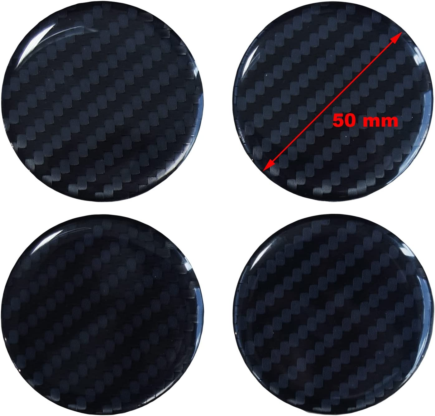 High-Tech Film with Visible Structure /910032/Carbon Black Alloy Wheel Centre Hub Cap//Cover 50/mm Hub Caps 3D/