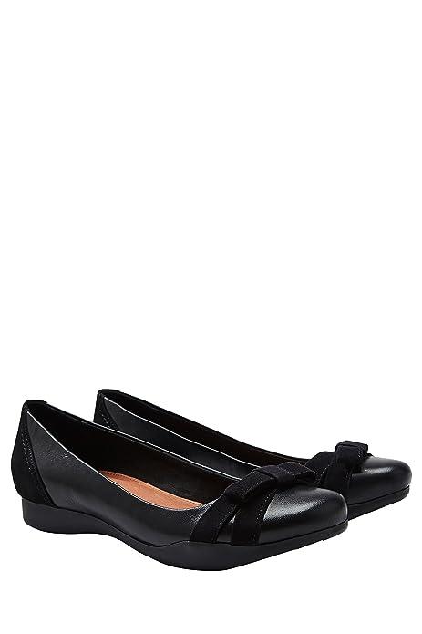 next Mujer Zapatos Zapatillas Bailarinas De Piel Con Lazo Casuales: Amazon.es: Zapatos y complementos