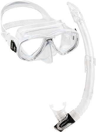 Cressi Perla & Gamma Kit de máscara y Tubo, Unisex Adulto, Transparente, Talla