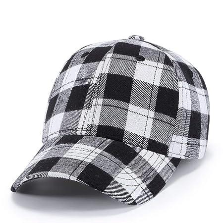 sdssup Gorra a Cuadros de algodón Negro Rojo a Cuadros Sombrero ...
