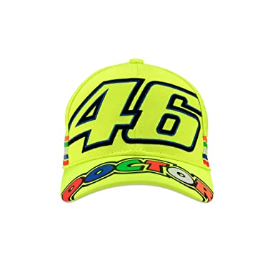 Amazon.com  Valentino Rossi VR46 Kids 46 Stripe Cap 2018 Yellow ... 1d2d61d2a5c