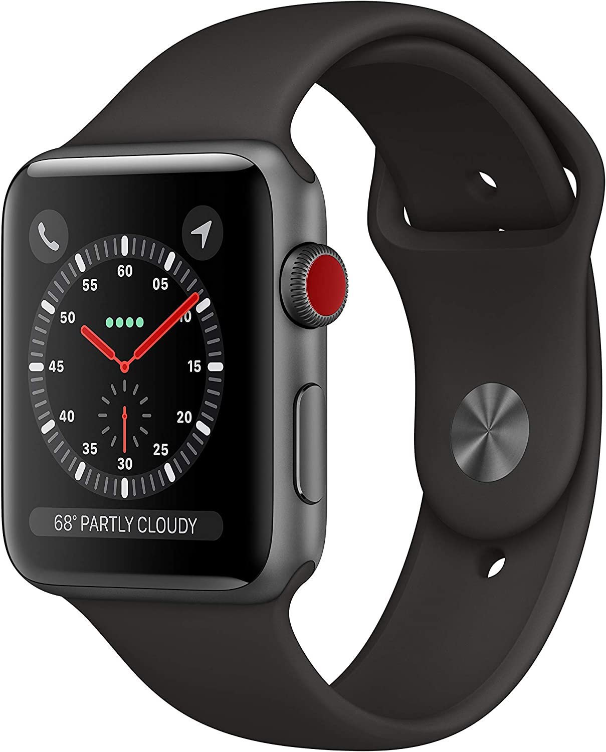 AppleWatch Series3 (Gps+Cellular, 42mm) - Space Gray Aluminum Case with Black sport Band