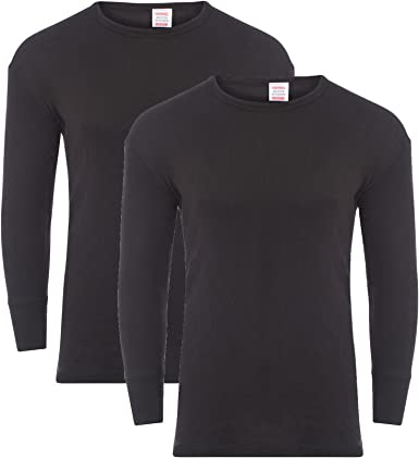 Cotton blend TOP ONLY Mens Thermal Long Sleeve Base Layer Tee