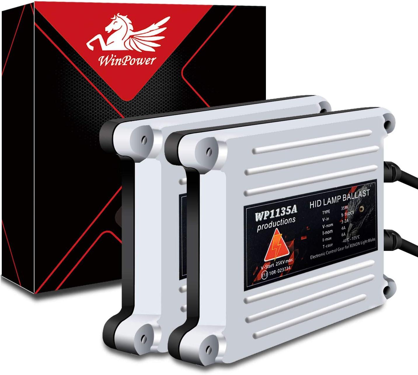AC HID Lastre con CAN-Bus Super decodificador Universal para 9006 H11 H8 H9 9005 H1 H3 H4 H7 H13 Win Power 35W // 55W Corriente Alterna 2 Piezas