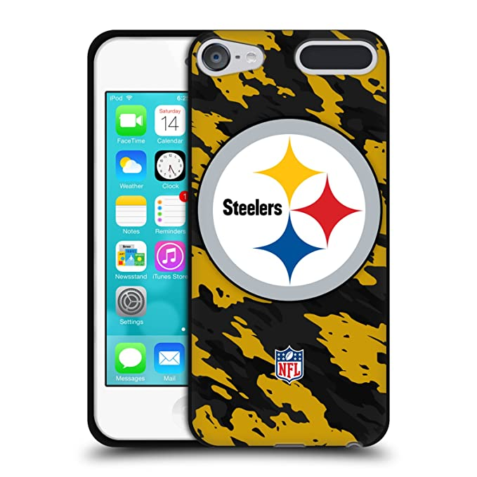 Amazon Official Nfl Camou Pittsburgh Steelers Logo Black Soft