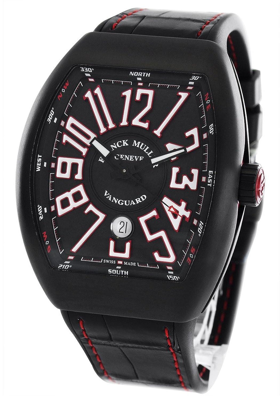 フランクミュラー ヴァンガード クロコレザー 腕時計 メンズ FRANCK MULLER V 45 SC DT[並行輸入品] B013UT61T6
