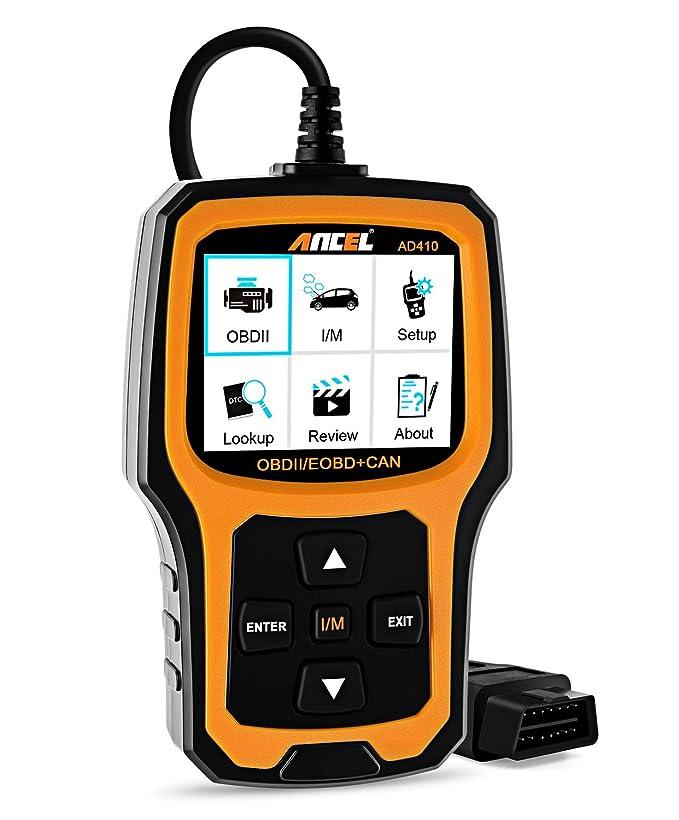 1 opinioni per Lettore codici auto OBD II Ancel AD410, controllo spia motore veicolo, strumento