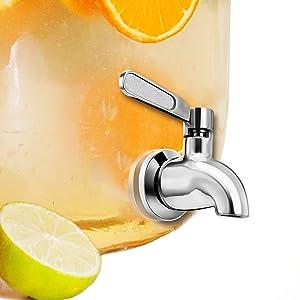 Vila Beverage Dispenser Replacement Spigot, Stainless Steel No-Rust Spout, Installation under 10-Minutes, Excellent Continuous Flow, Sturdy, Stylish Alternative for Flimsy Plastic Taps