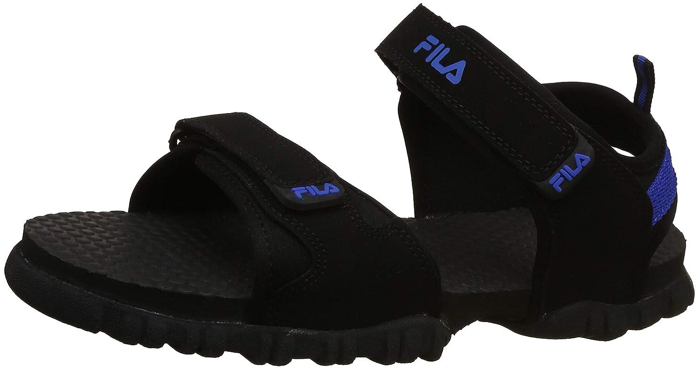 182d4f6b4e154 Fila Men s Bragg Plus Blk RYL Blu Sneakers-11 UK India (45 EU) (11006360)   Buy Online at Low Prices in India - Amazon.in