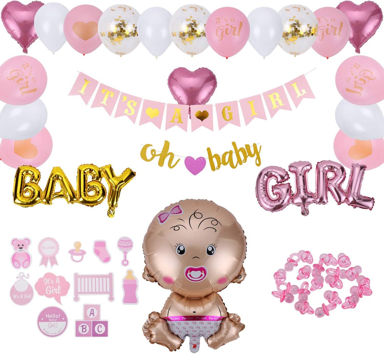 PALLONCINI 12 pezzi it /'s a Girl è una ragazza NASCITA BABY-Party ROSA PINK