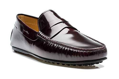 7dde0858abb Tod s Men s Leather Moccasins City Gommino Loafer Shoes Burgundy   Amazon.ca  Shoes   Handbags