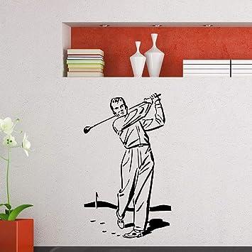 Tianpengyuanshuai Mural Gimnasio Deportes Jugador de Golf Pegatinas de Pared Vinilo Golf Deportes Gimnasio decoración 36X40cm: Amazon.es: Hogar