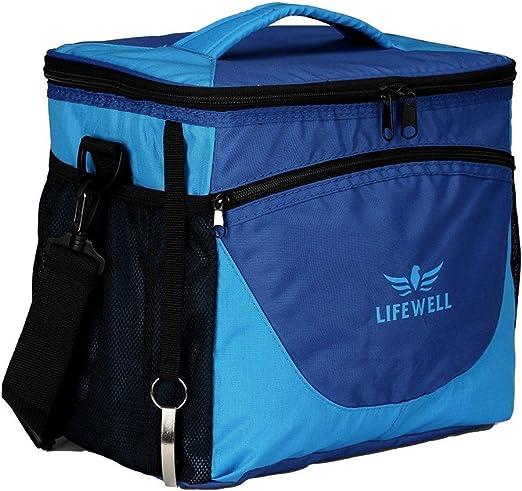 Lifewell - Bolsa térmica plegable para congelador, 24 latas, suave ...