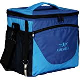 LIFEWELL Collapsible Insulated Cooler Bag 24 can Freezer Tote, Soft Cooler For Taking Lunch, Party, Picnic, Beach Food Preservation