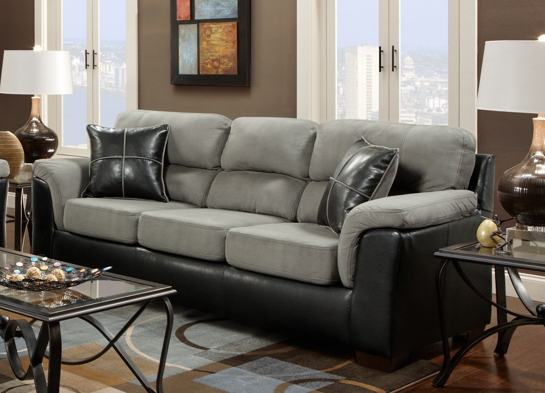 Amazoncom Roundhill Furniture Laredo 2Toned Sofa and Loveseat