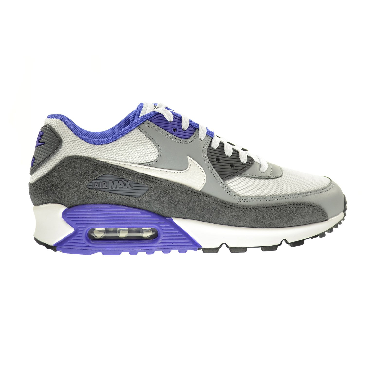 new concept 418ac 9b55d Amazon.com   Nike Air Max 90 Essential Men s Shoes White White-Silver-Dark  Grey 537384-122   Athletic