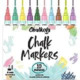 Chalkola Liquid Chalk Markers for Chalkboard, Blackboard, Window, Bistro, Car Glass, Board, Mirror (10 Vintage Colors) - Wet