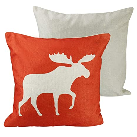 Funda de cojín cuadrada para sofá y cama, diseño de ciervo ...