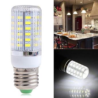 Bombillas halógenas LED de cristal E27 12W 56SMD 5730 5630 LED foco bombilla de maíz luz