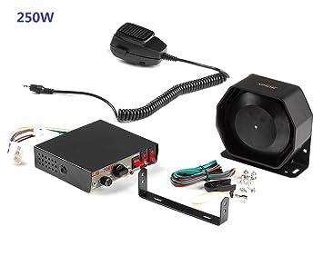 Set de universal 200 W 8 tonos sonido Loud Alerta Alarma ...