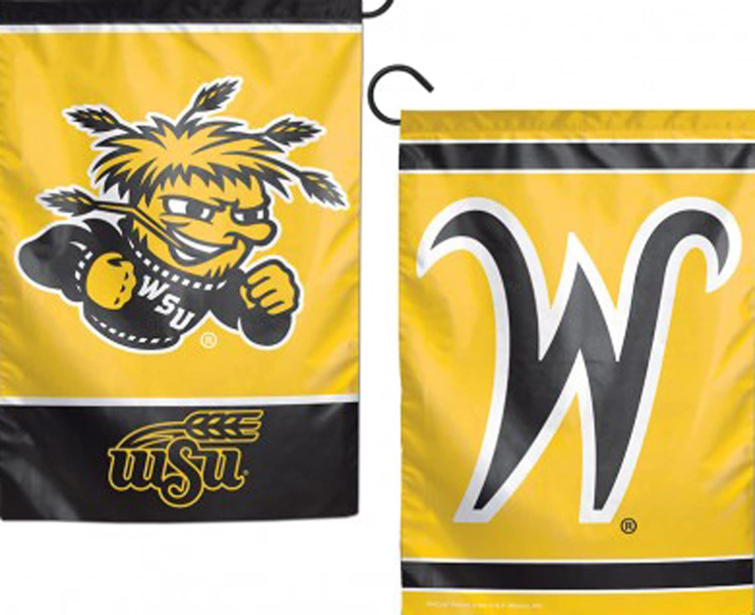 NCAA Wichita State Shockers Flag12x18 Garden Style 2 Sided Flag, Team Colors, One Size
