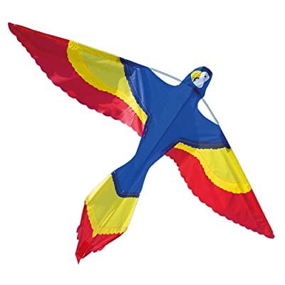 Melissa & Doug Rainbow Parrot Single Line Shaped Kite (37-Inch Wingspan): Toys & Games