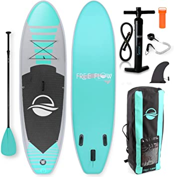 SereneLife Inflatable Stand Up Paddle Board (6 Inches Thick) with Premium SUP Accessories & Carry Bag | Wide Stance, Bottom Fin for Paddling, Surf ...