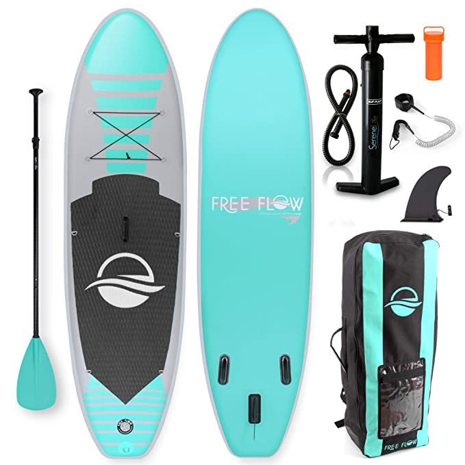 Best Inflatable SUP Boards : SereneLife Inflatable Stand Up Paddle Board