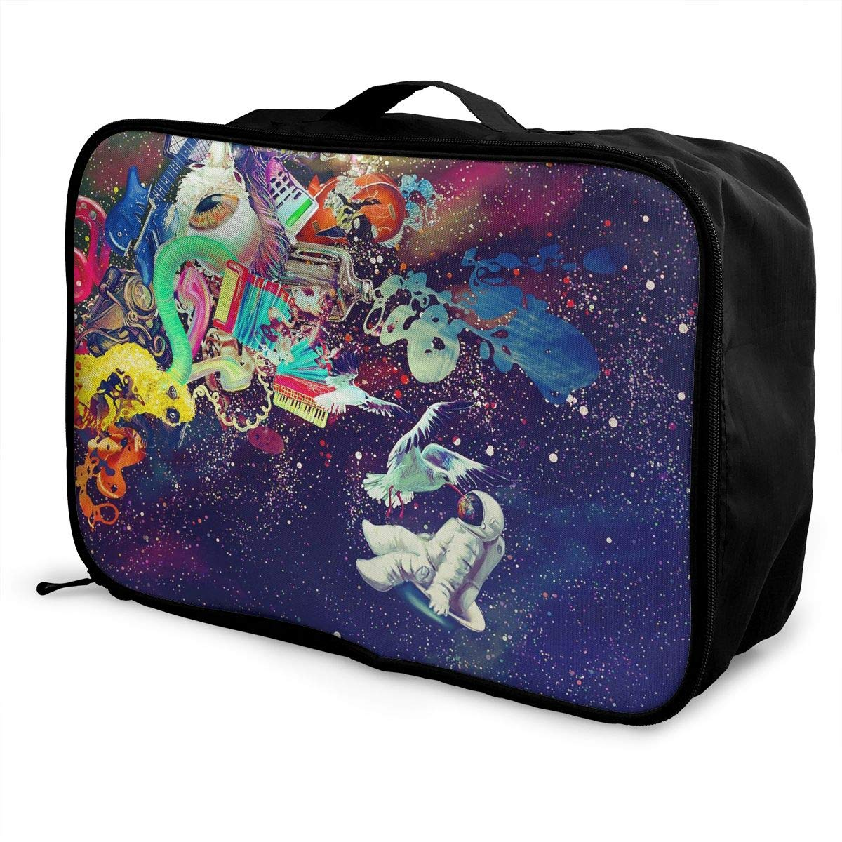 Travel Luggage Duffle Bag Lightweight Portable Handbag Psychedelic Space Large Capacity Waterproof Foldable Storage Tote