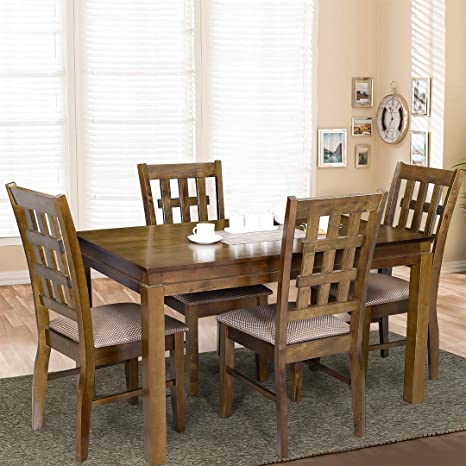 Cheap Dining Table Sets.Royaloak Daisy Four Seater Dining Table Set Walnut