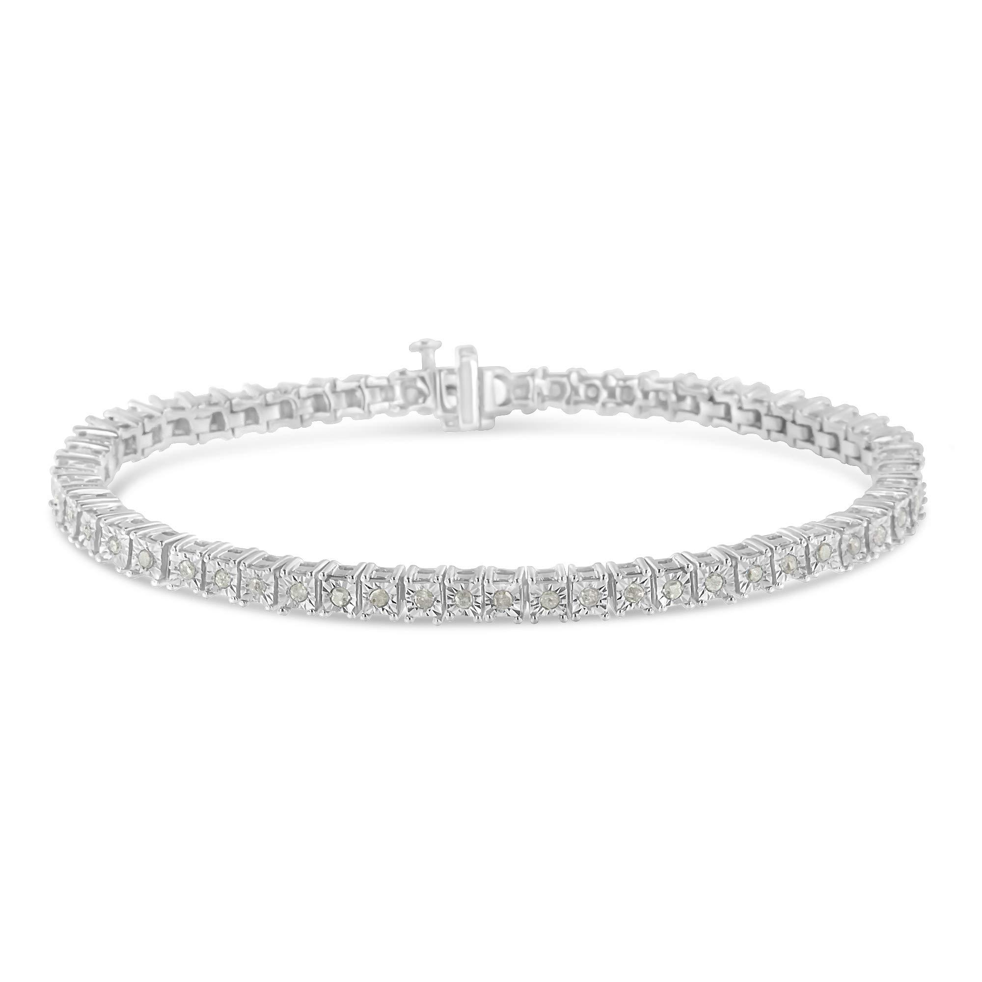 Original Classics 1.0 Ct Rose-Cut Square Frame Diamond Tennis Bracelet - Flawless Style with Brilliant Shine by Original Classics