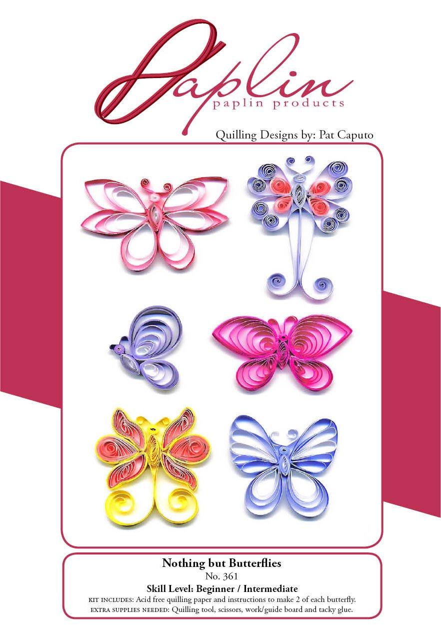 PAPLIN PAPER PAP361 Paplin Quilling Kit Butterflies Darice