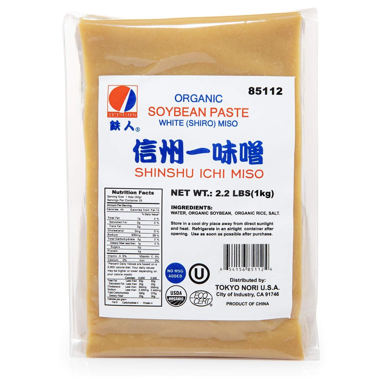 White Miso Paste   USDA Organic, No MSG, No Preservatives, Vegan, Kosher   35.2 oz   By Tetsujin