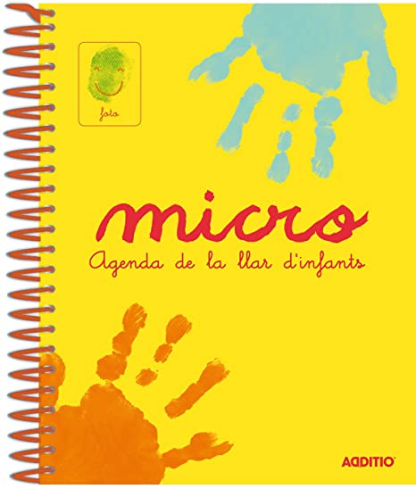Additio A101 - Agenda Micro para escuela infantil (catalán), 0 a 3 años, color amarillo
