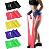 Allvodes Exercise Bands for Working Out, Resistance Bands Set with 5 Resistance Levels, Skin-Friendly Elastic Bands with Carr