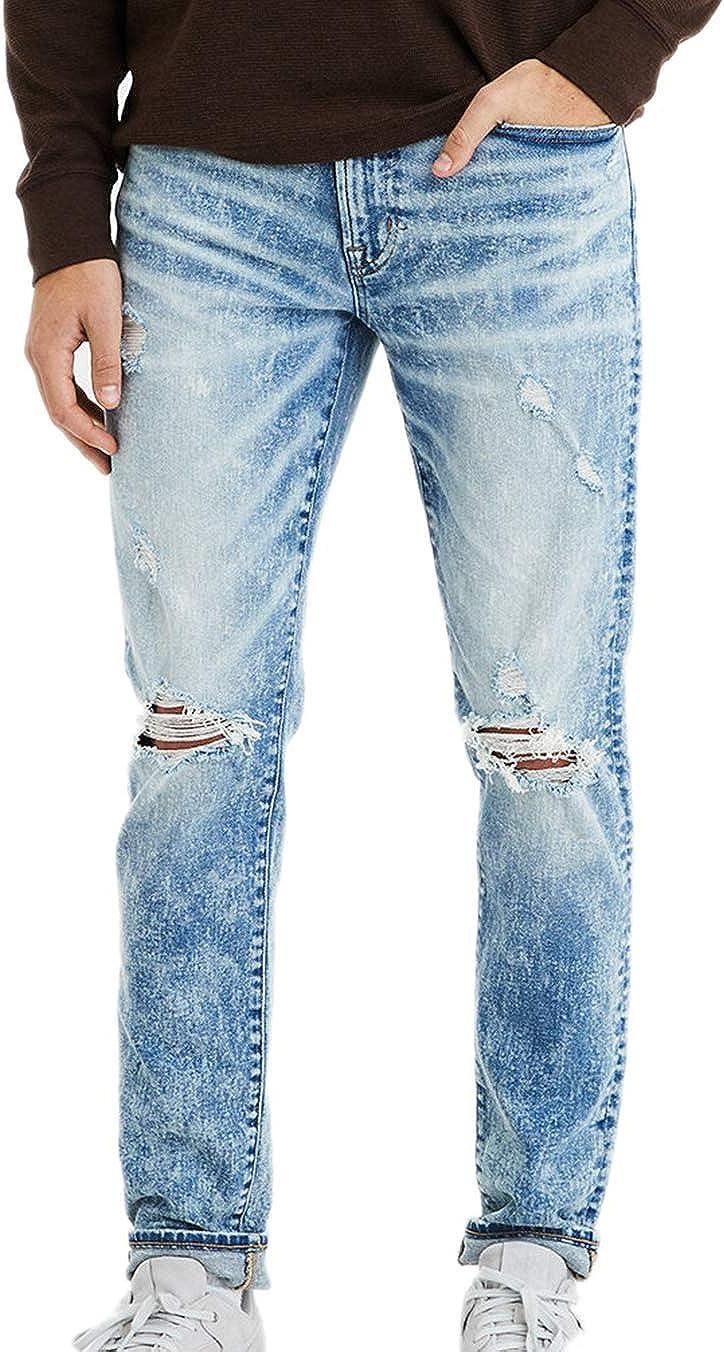 American Eagle Men's 4711466 Flex Slim Jean, Light Acid Wash
