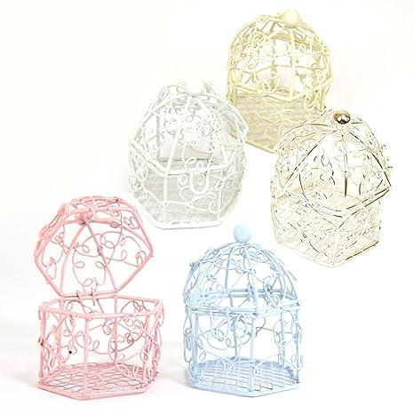 Mini jaula de pájaros para boda Baby Shower! cajas, Mix: Amazon.es ...