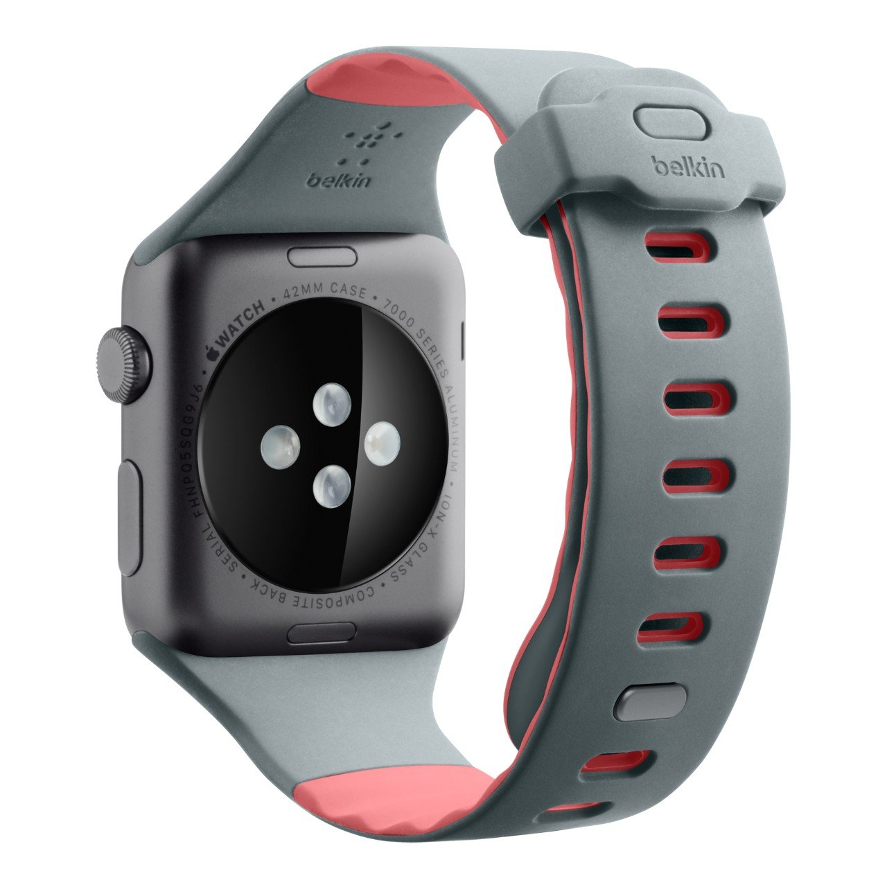 Belkin F8W730btC01 - Correa Deportiva para Apple Watch (42 mm/44 mm), Banda Deportiva para Apple Watch Series 4, 3, 2, 1 (Pulsera de Reloj para Apple ...