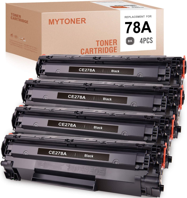MYTONER Compatible Toner Cartridge Replacement for HP 78A CE278A Toner for P1606dn P1606 M1536dnf P1566 P1560 M1536 MFP (Black, 4-Pack)