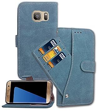 Carcasa Galaxy S7 Edge £¬LH Azul Tapa Carteras de Scrub ...