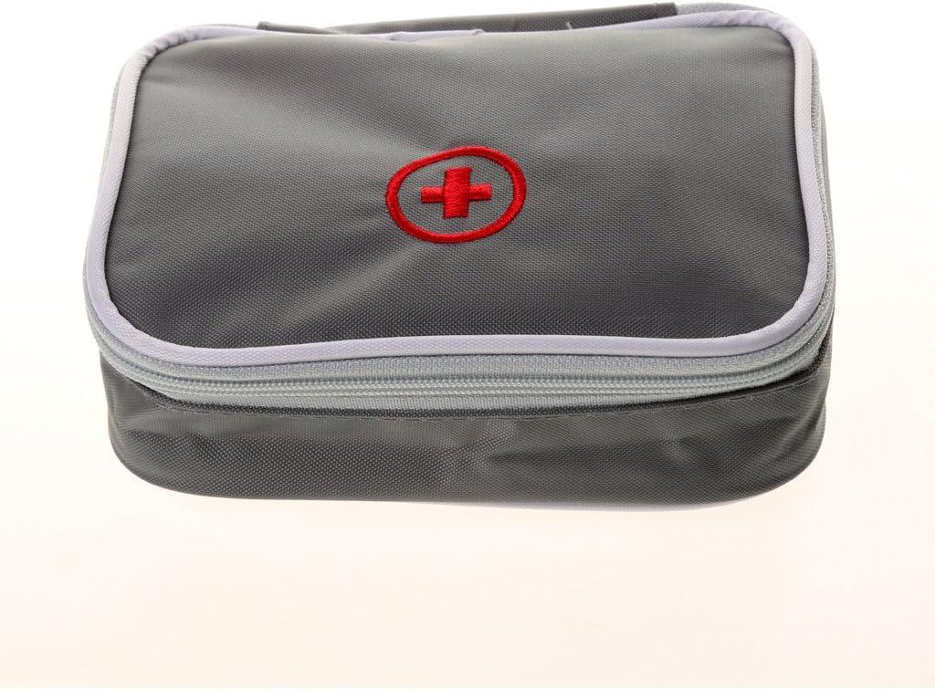 sourcingmap/® Sport plein air Camping Randonn/ées Medic Kit vide premiers soins urgence rouge Sac rangement