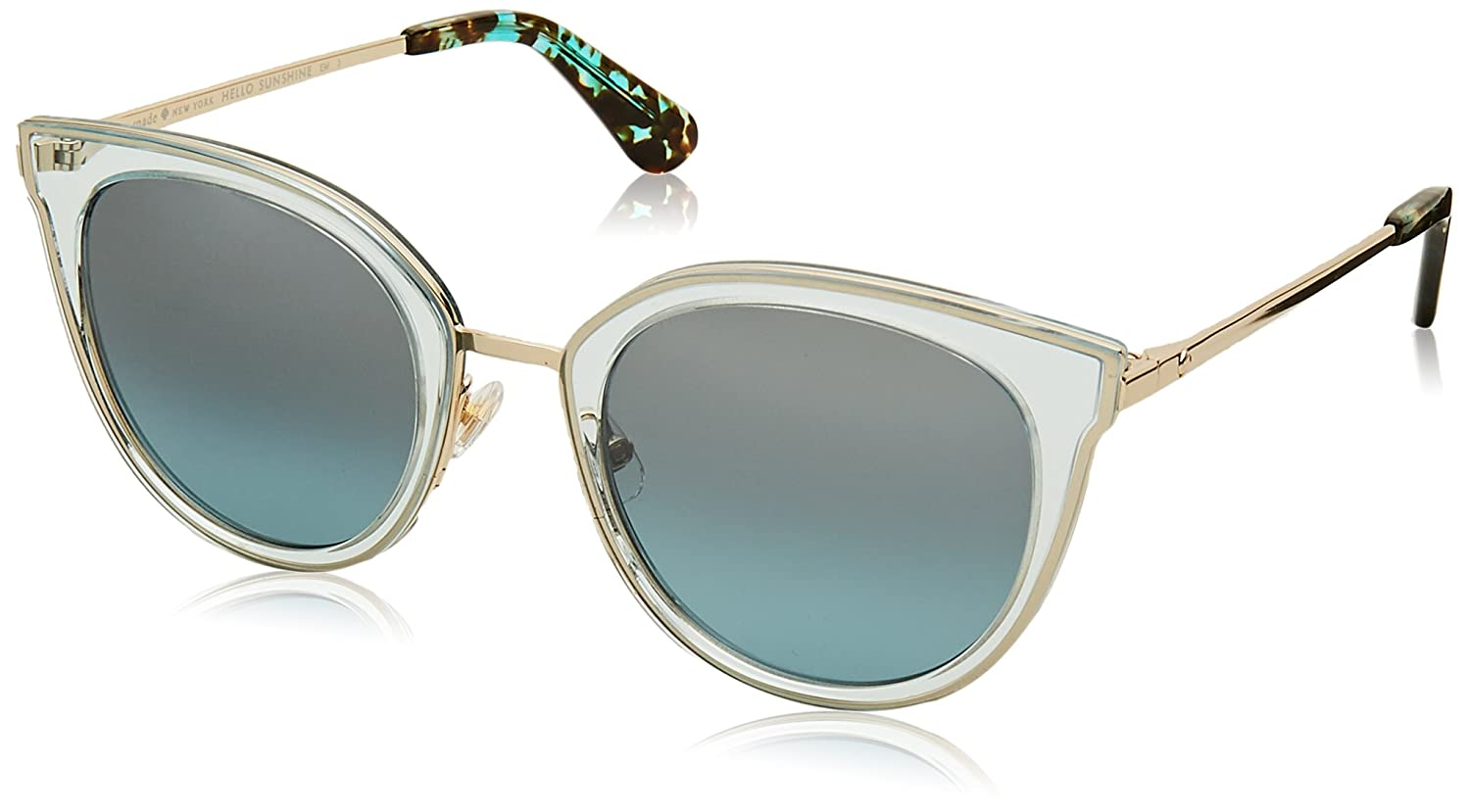 d08b436dce8 Amazon.com  Kate Spade Women s Jazzlyn s Round Sunglasses BLUE GOLD 51 mm   Clothing